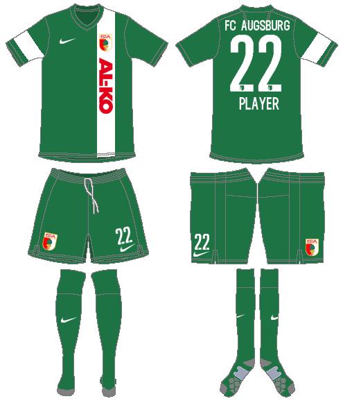 FC Augsburg Uniform Special Event Uniform (2015) -  SportsLogos.Net