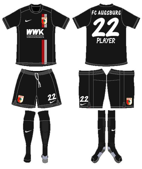 FC Augsburg Uniform Road Uniform (2015-2016) -  SportsLogos.Net