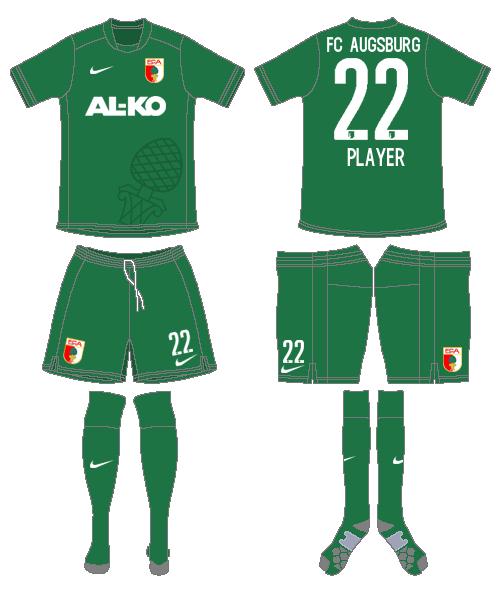 FC Augsburg Uniform Alternate Uniform (2014-2015) -  SportsLogos.Net