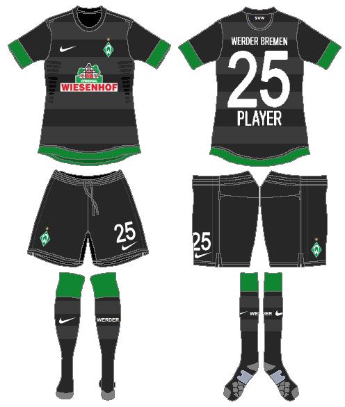 Werder Bremen Uniform Road Uniform (2012-2013) -  SportsLogos.Net