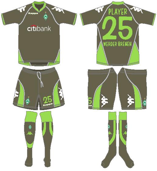 Werder Bremen Uniform Road Uniform (2007-2008) -  SportsLogos.Net
