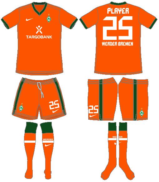 Werder Bremen Uniform Alternate Uniform (2010-2011) -  SportsLogos.Net