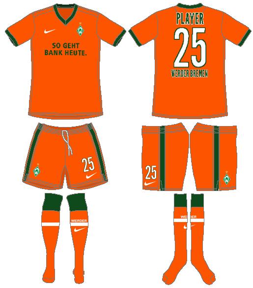 Werder Bremen Uniform Alternate Uniform (2009-2010) -  SportsLogos.Net