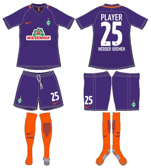 Werder Bremen Uniform Road Uniform (2016-2017) -  SportsLogos.Net