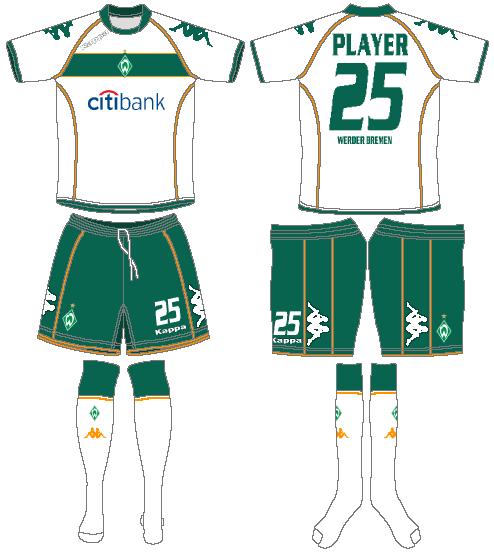 Werder Bremen Uniform Home Uniform (2008-2009) -  SportsLogos.Net