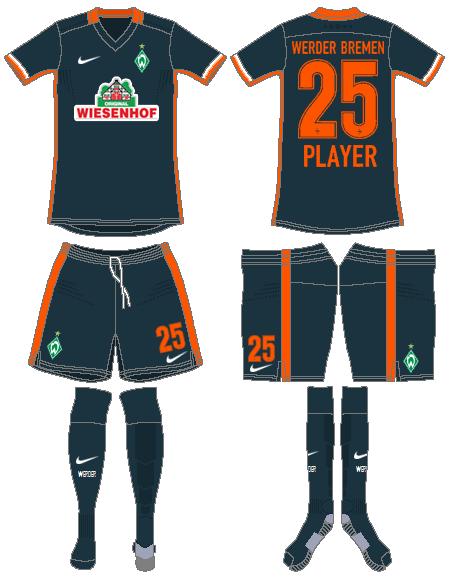 Werder Bremen Uniform Road Uniform (2015-2016) -  SportsLogos.Net