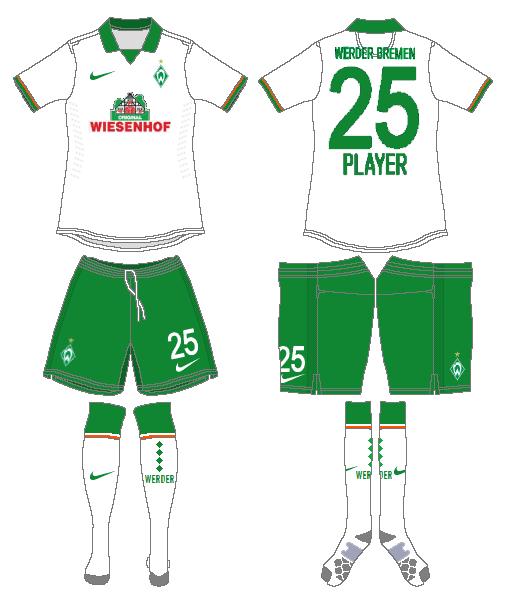 Werder Bremen Uniform Road Uniform (2013-2014) -  SportsLogos.Net