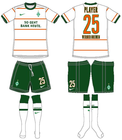 Werder Bremen Uniform Road Uniform (2009-2010) -  SportsLogos.Net