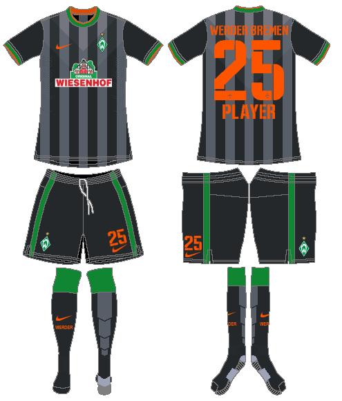 Werder Bremen Uniform Road Uniform (2014-2015) -  SportsLogos.Net