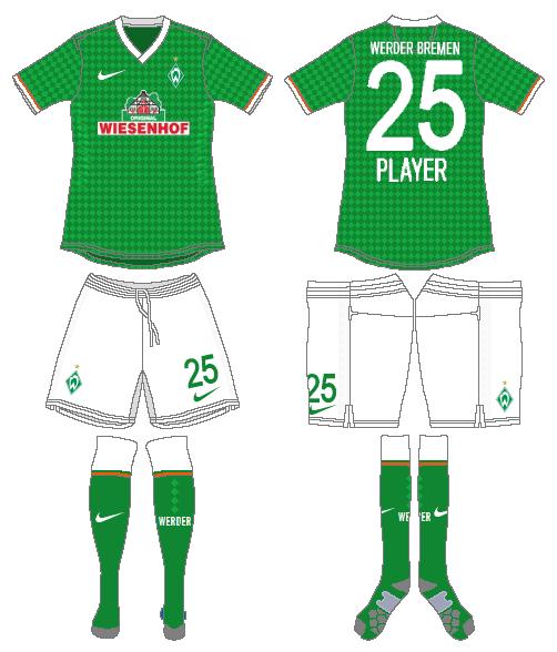 Werder Bremen Uniform Home Uniform (2013-2014) -  SportsLogos.Net