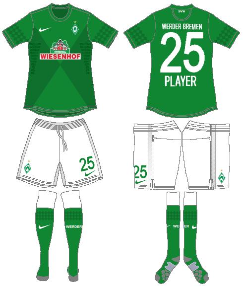 Werder Bremen Uniform Home Uniform (2012-2013) -  SportsLogos.Net