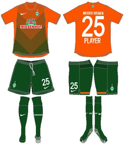Werder Bremen Uniform Alternate Uniform (2012-2013) -  SportsLogos.Net