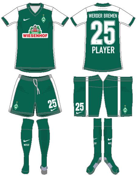 Werder Bremen Uniform Home Uniform (2015-2016) -  SportsLogos.Net