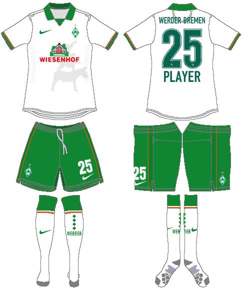 Werder Bremen Uniform Alternate Uniform (2014-2015) -  SportsLogos.Net