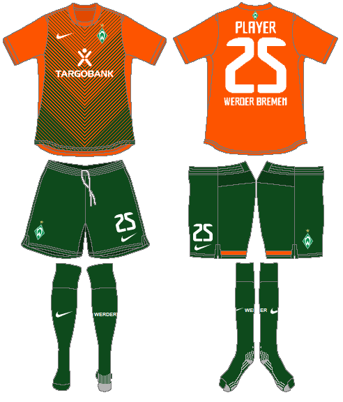 Werder Bremen Uniform Road Uniform (2011-2012) -  SportsLogos.Net