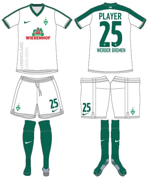 Werder Bremen Uniform Alternate Uniform (2016-2017) -  SportsLogos.Net