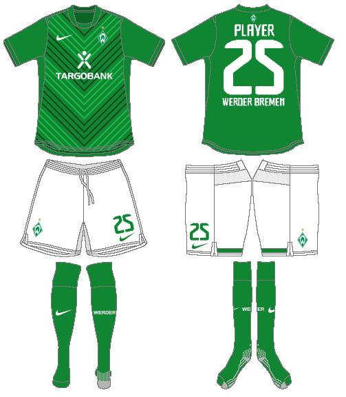 Werder Bremen Uniform Home Uniform (2011-2012) -  SportsLogos.Net
