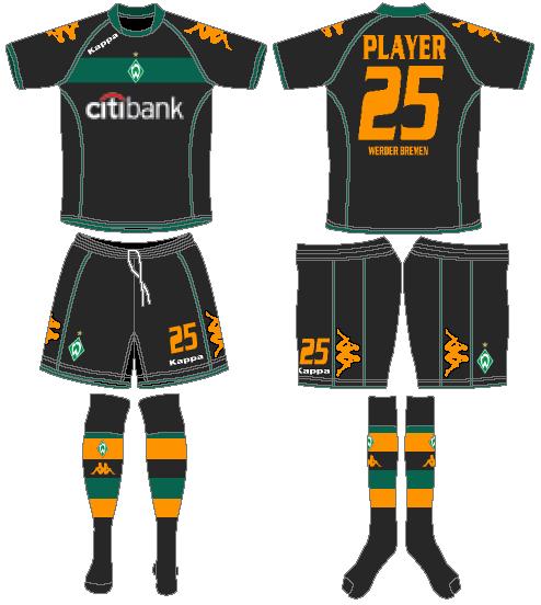 Werder Bremen Uniform Road Uniform (2008-2009) -  SportsLogos.Net