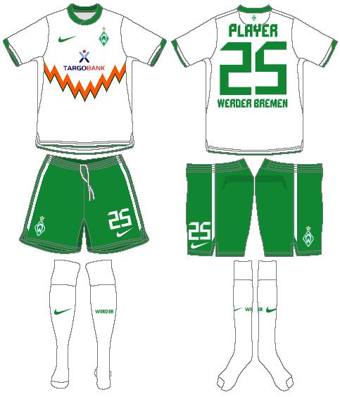 Werder Bremen Uniform Road Uniform (2010-2011) -  SportsLogos.Net