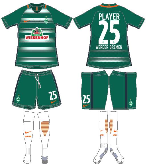 Werder Bremen Uniform Home Uniform (2016-2017) -  SportsLogos.Net