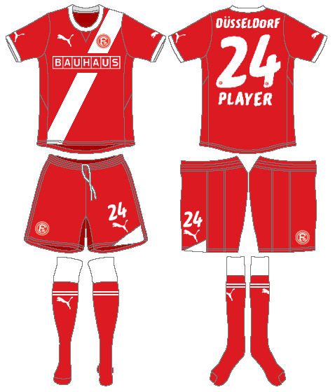 Fortuna Dusselsdorf Uniform Home Uniform (2011-2012) -  SportsLogos.Net