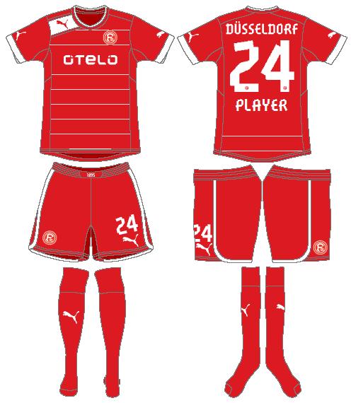 Fortuna Dusselsdorf Uniform Home Uniform (2012-2013) -  SportsLogos.Net