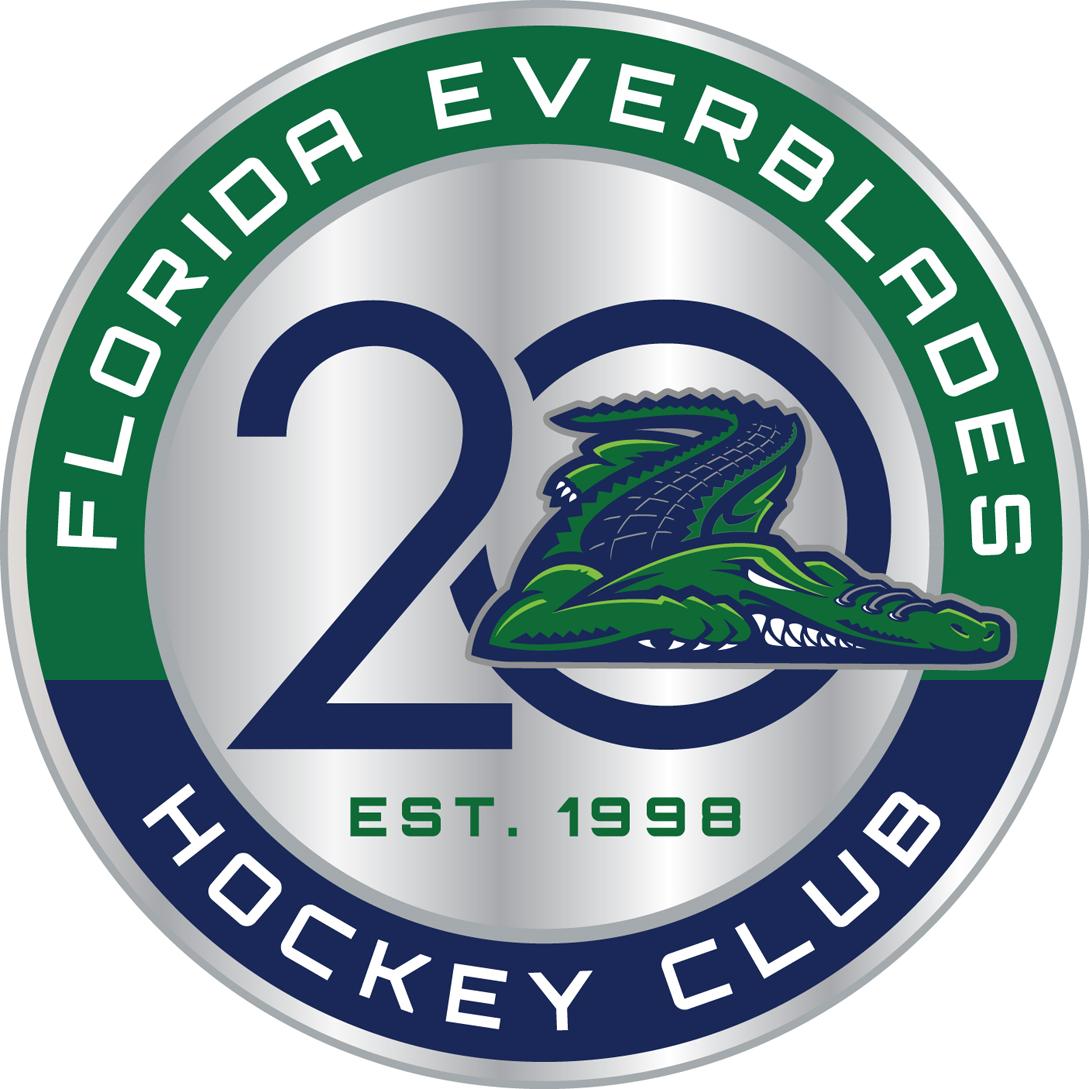 Florida Everblades Logo Anniversary Logo (2017/18) -  SportsLogos.Net