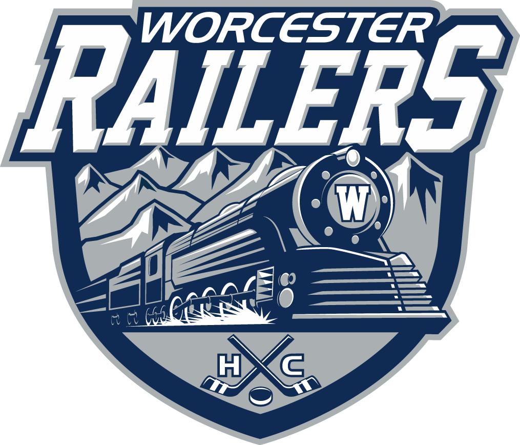 Worcester Railers HC Logo Primary Logo (2017/18-Pres) -  SportsLogos.Net