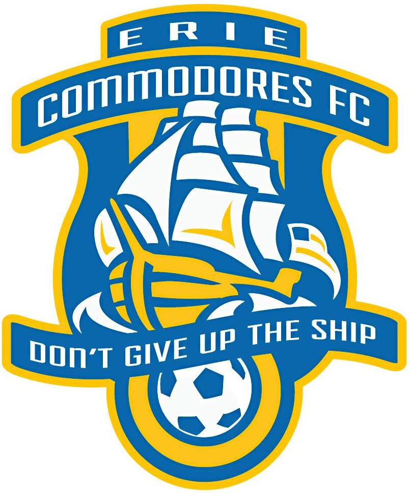 Erie Commodores FC Logo Primary Logo (2015-Pres) -  SportsLogos.Net
