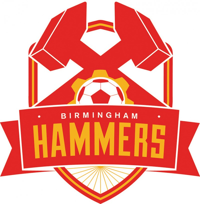 Birmingham Hammers Logo Primary Logo (2016-Pres) -  SportsLogos.Net
