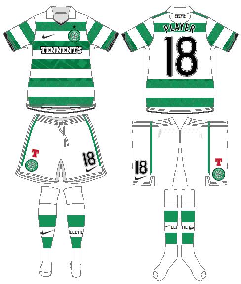 Celtic FC Uniform Home Uniform (2010/11-2011/12) - UEFA Home Kit SportsLogos.Net