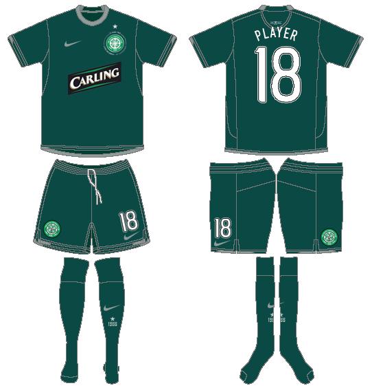 Celtic FC Uniform Road Uniform (2007/08) - UEFA Away Kit SportsLogos.Net