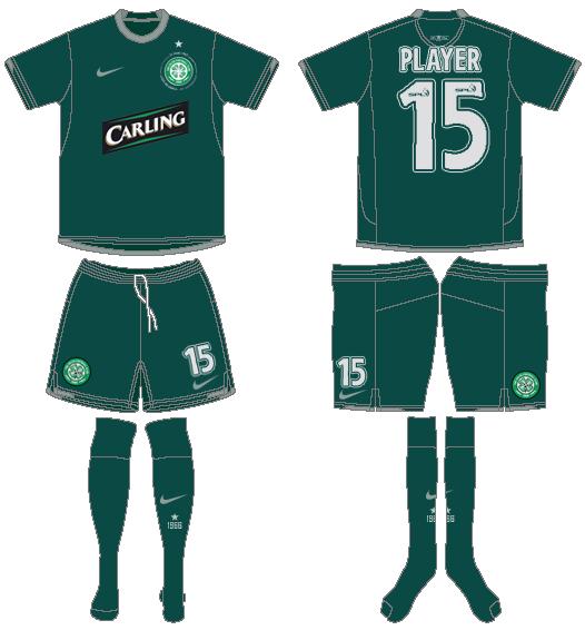 Celtic FC Uniform Road Uniform (2007/08) -  SportsLogos.Net