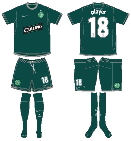 Celtic FC Uniform Alternate Uniform (2008/09) - UEFA Third Kit SportsLogos.Net