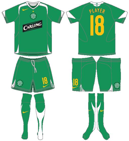 Celtic FC Uniform Road Uniform (2005/06) - UEFA Away Kit SportsLogos.Net