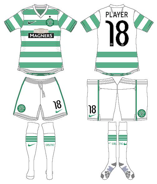 Celtic FC Uniform Home Uniform (2013/14-2014/15) - UEFA Home Kit SportsLogos.Net