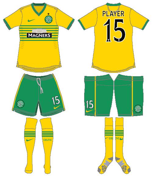 Celtic FC Uniform Road Uniform (2013/14) -  SportsLogos.Net
