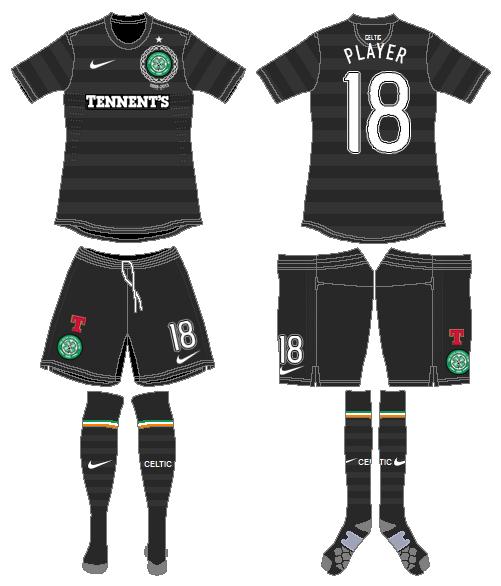 Celtic FC Uniform Road Uniform (2012/13) - UEFA Away Kit SportsLogos.Net