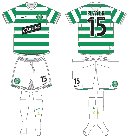 Celtic FC Uniform Home Uniform (2007/08) -  SportsLogos.Net