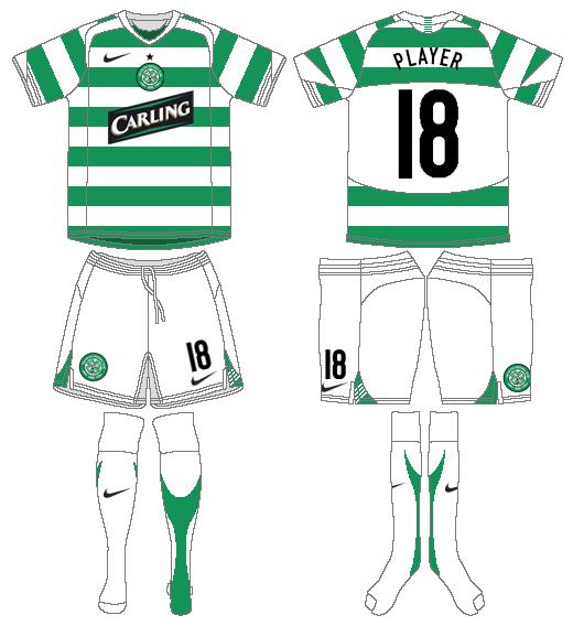 Celtic FC Uniform Home Uniform (2005/06) - UEFA Home Kit SportsLogos.Net