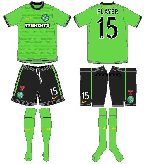 Celtic FC Uniform Road Uniform (2010/11) -  SportsLogos.Net