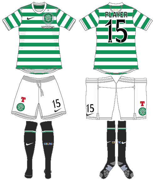 Celtic FC Uniform Home Uniform (2012/13) -  SportsLogos.Net