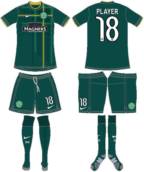 Celtic FC Uniform Road Uniform (2014/15) - UEFA Away Kit SportsLogos.Net