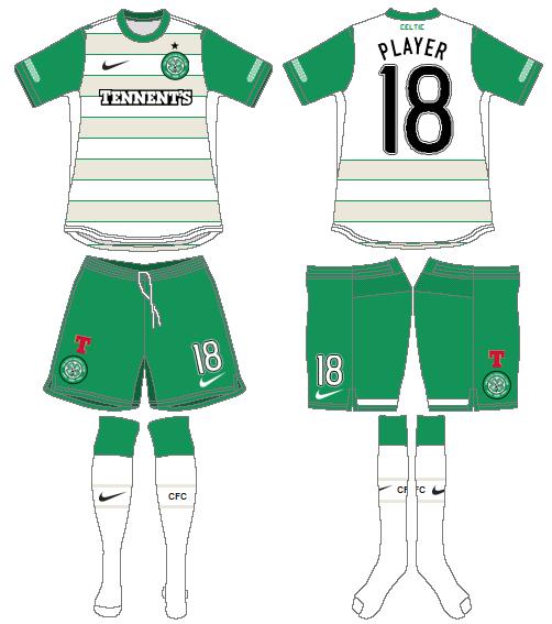 Celtic FC Uniform Road Uniform (2011/12) - UEFA Away Kit SportsLogos.Net