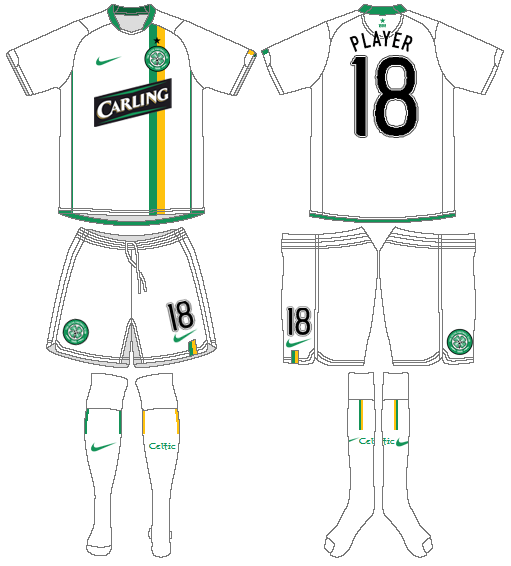 Celtic FC Uniform Alternate Uniform (2006/07) - UEFA Third Kit SportsLogos.Net