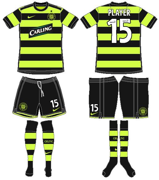 Celtic FC Uniform Road Uniform (2009/10) -  SportsLogos.Net