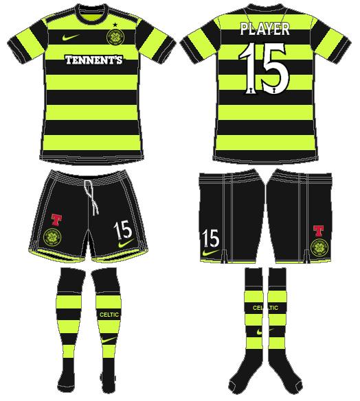 Celtic FC Uniform Alternate Uniform (2010/11) -  SportsLogos.Net