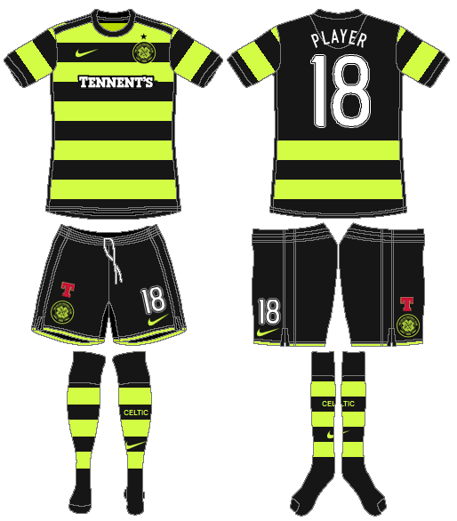 Celtic FC Uniform Road Uniform (2010/11) - UEFA Away Kit SportsLogos.Net