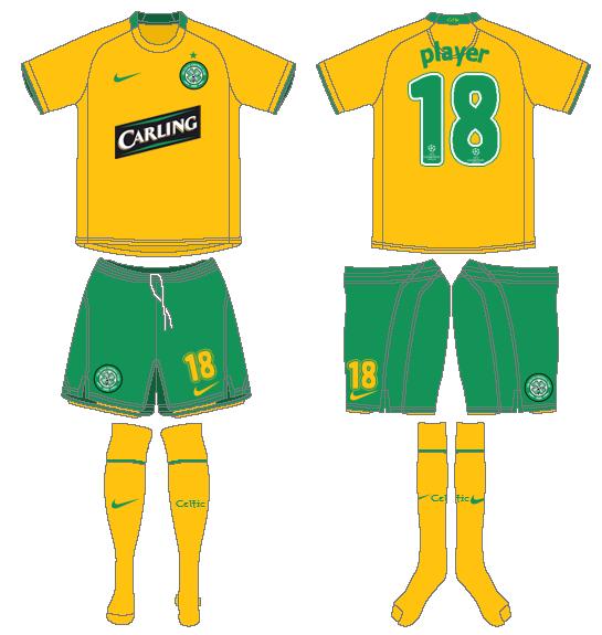 Celtic FC Uniform Road Uniform (2008/09) - UEFA Away Kit SportsLogos.Net