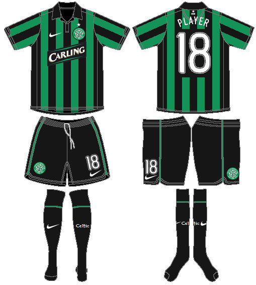 Celtic FC Uniform Road Uniform (2006/07) - UEFA Away Kit SportsLogos.Net